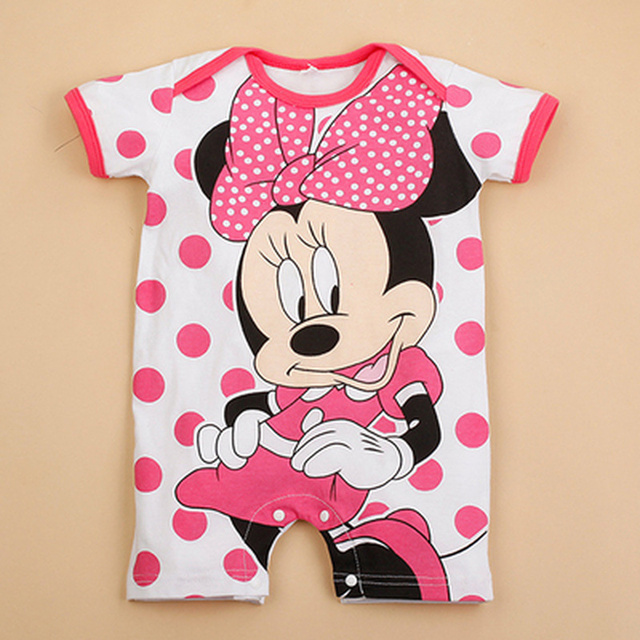 Newborn Mickey Baby Rompers Disney Baby Girl Clothes Boy Clothing Roupas Bebe Infant Jumpsuits Outfits Minnie Kids Christmas 3