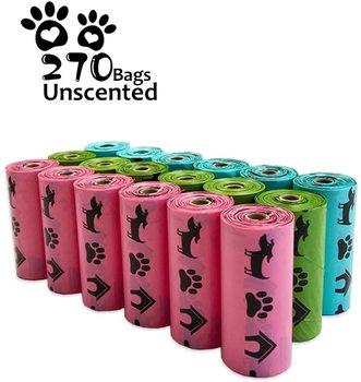 Biodegradable Dog Poop Bags Earth-Friendly 18 Rolls 270 Counts Multipl Colors Blue Green Pink Lavender Scented Cat Waste Bags parris afton bonds lavender blue