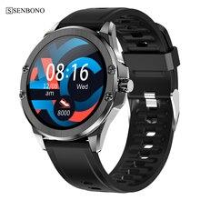 SENBONO reloj inteligente resistente al agua para hombre y mujer, reloj deportivo con control del ritmo cardíaco, resistente al agua, 2020