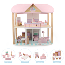 Dollhouse Furniture Room Accessories Toys for Girls House Accessories Miniature Kit Dolls Bed Family Set Furniture For Children