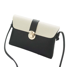 New Fashion Designer Handbag Women Color Block Flap Faux Leather Small Crossbody Shoulder Bag Phone Holder Female Clutch organiz color splicing faux pearl magnetic closure crossbody bag