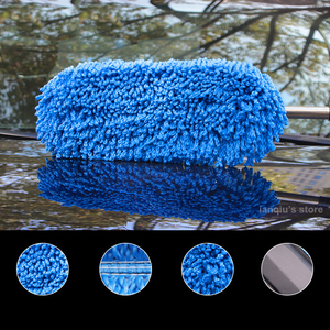 Image 2 - Chenille Car Wash Mop Duster Wipe Fiber Car Brush Car Wash Cleaning Retractable Models