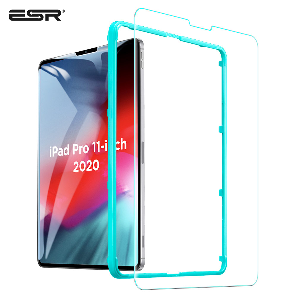 ESR 1PC Tempered Glass For 2020 IPad Pro 11'' 12.9'' Inch HD Ultra Clear High Definition 1X 2X Screen Cover For IPad 12.9 Film