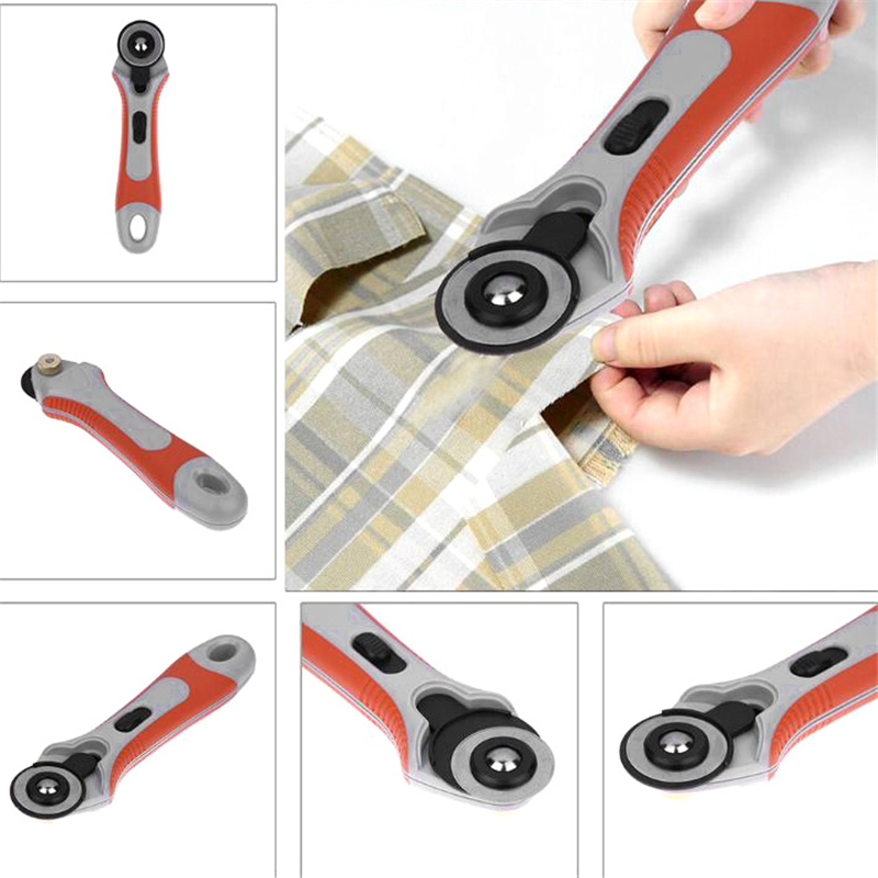New Roller Wheel Round Knife Sewing Machine Parts 45mm Patchwork Tools for Hand Cutting Leather Fabrics Wheel Knife Rotary Cutt