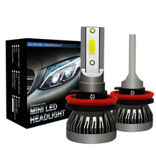 2x Super Bright H4 H7 LED Bulb H1 H11 HB3 9005 HB4 9006 LED Car Headlight 9000LM/Pair 36W Auto Lights 6000 White Automobile Lamp 2x mini size h1 h7 led h4 h11 hb3 hb4 9005 9006 led car headlight bulb 6000k 9000lm 36w auto lights 12v automobile fog lamp bulb