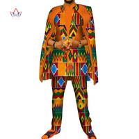 African Print 3 pieces Men sets Dashiki Top and Trouser & robe Set Bazin Plus Size Traditional African Clothing 6XL WYN327