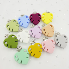 Pacifier Clip Newborn-Care-Products Baby DIY 3pcs Toy-Buckle Leaf