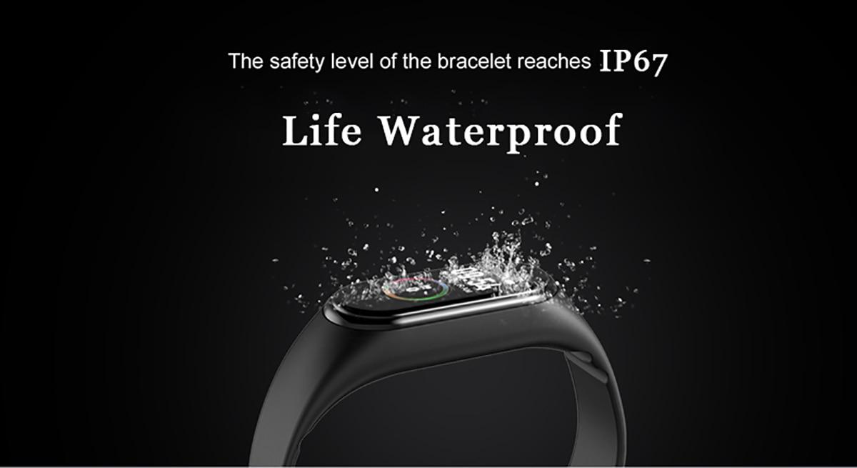 H8ad17465287f49c89a547c012c6a4a23Q New M4 Smart Band Fitness Tracker Smart Watch Sport Smart Bracelet Heart Rate Blood Pressure Smartband Monitor Health Wristband