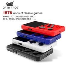 Sapo de dados 16 bits acrade vídeo console de jogo retro construído em 3200 + console de jogos para gba/mame suporte baixar/salvar jogo tv saída