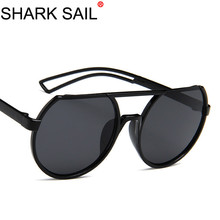 SHARK SAIL Men Round Steampunk Sunglasses Women Vintage Metal Steam Punk Sun Glasses Fashion Brand Designer Retro Glasse Eyewear