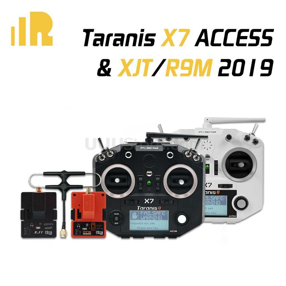 FrSky Taranis Q X7s Access 2.4GHz Transmitter+R9M 2019 Long Range Module Carbon
