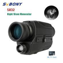 """SVBONY 5x32 Монокуляр ночного видения Digital 0,3 Мега Пиксели CMOS 1,"""" ЖК-дисплей Дисплей инфракрасное устройство охотничьи бинокли"""