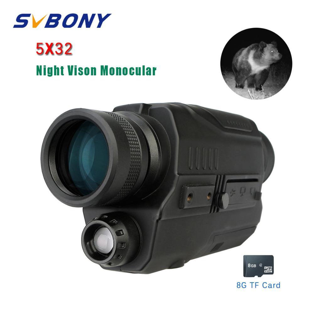 Svbone 5x32 Vision nocturne monoculaire numérique 0.3 mégapixels CMOS 1.5 écran LCD dispositif infrarouge chasse jumelles télescope - 1