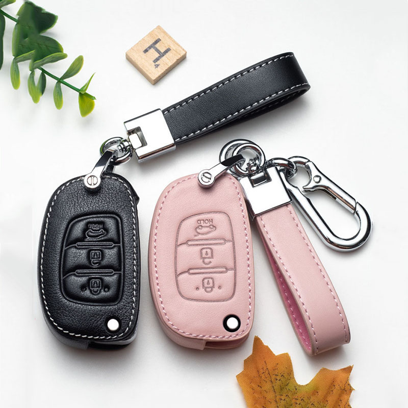 Couro caso da capa chave do carro para hyundai ix35 ix45 i10 i10 i20 i30 hb20 sonata verna solaris santa elantra mistra proteção