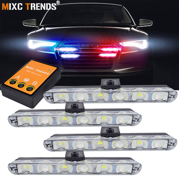 цена на 4x6 Led Ambulance Police Light DC 12V Car Light Flashing Firemen Emergency Lights DRL Day Running Flasher Strobe Warning Light