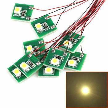 Набор светодиодных ламп DD00WM, 10 шт., Предварительно проводной теплый белый SMD 3528, 12 В ~ 18 в