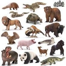 Оригинальные оригинальные джунгли дикая жизнь зоопарк ферма животные наборы собака волк осел бык овца Бегемот фигурка детская игрушка для детей подарок