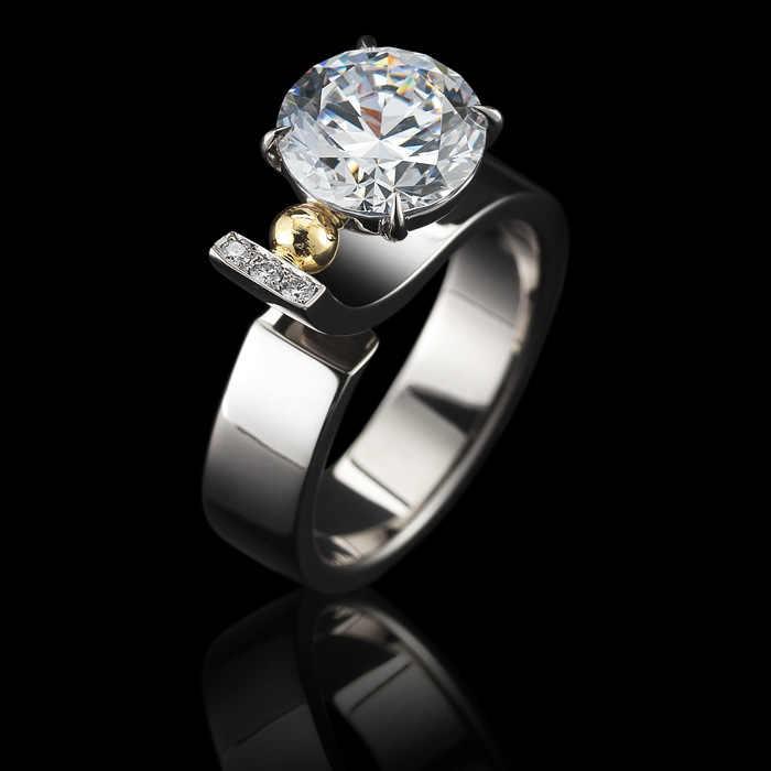 S925 prata anel de diamante para o casamento feminino pedra preciosa prata 925 jóias branco topázio 2 quilates anel de diamante anillos bizuteria menina