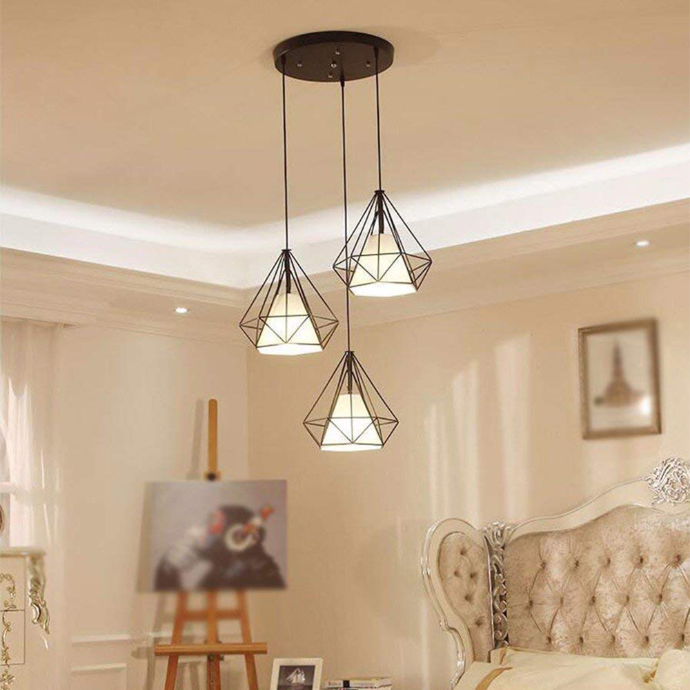 Useful LED Ceiling Down Light LED Down Light Flush Mount Kitchen Bird Cage Chandelier Fixture Energy Saving E27 Diamond shaped