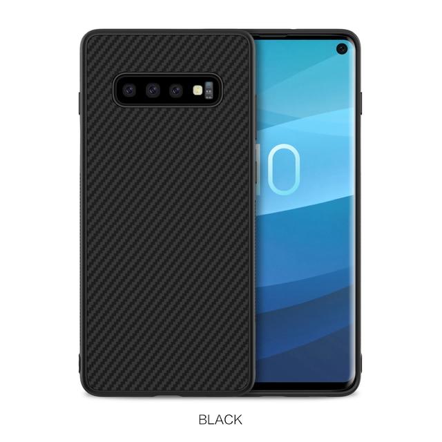Sfor Samsung Galaxy S10 Plus Case Nillkin Synthetic Fiber Carbon Fiber Pp Back Cover Case For Samsung Galaxy S10 Plus S10 S10e Phone Case Covers Aliexpress