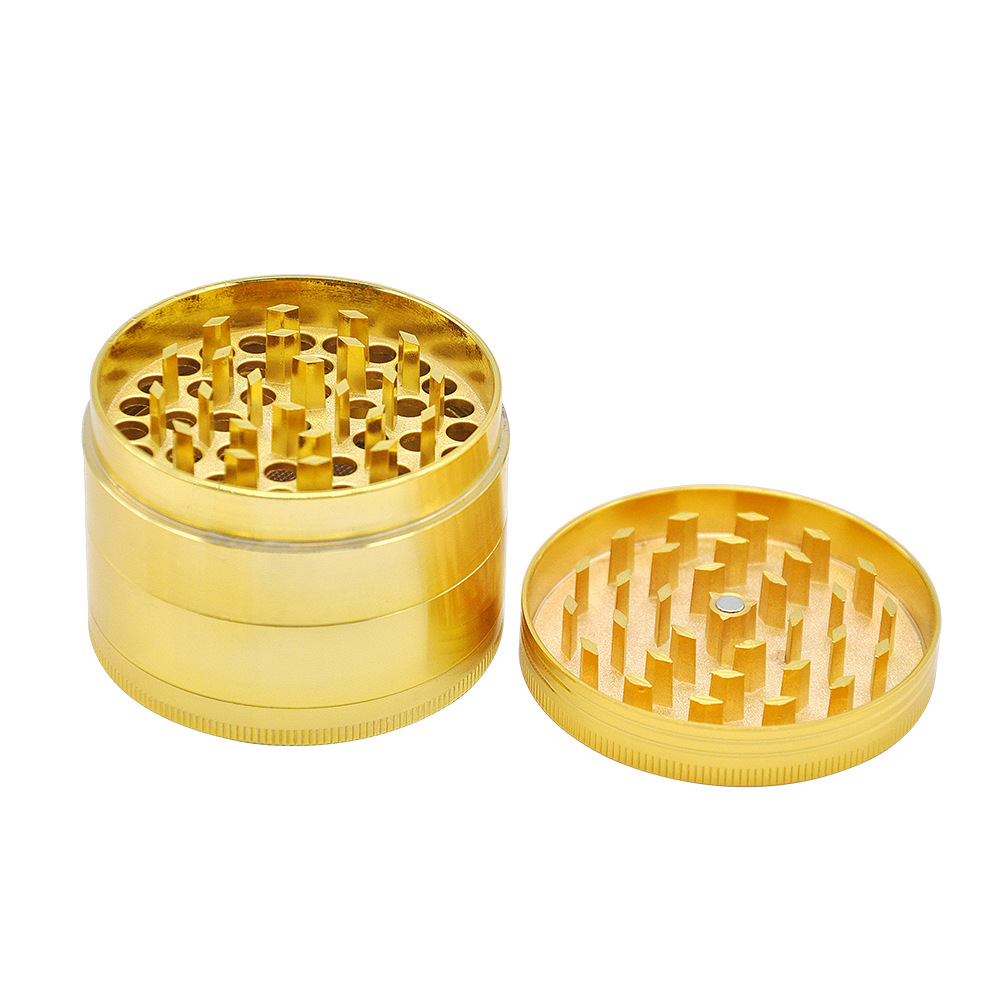 2 Size Available 4 Layers Dia.36mm/43mm Gold Zinc Alloy Metal Herb Grinder spice/tobacco Crusher Tobacco Spice Hand Muller 6