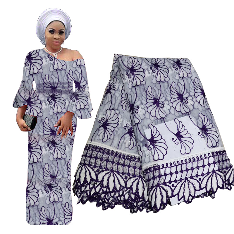 Best Selling African Lace Fabric Swiss Voile With Stones Lace High Quality Nigerian Tulle Mesh Lace Fabric In Switzerland