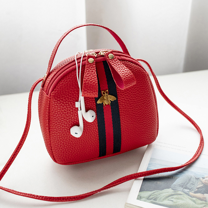 Small Bag Women 2020 New Fashion Trend Small Bee Women Bag Zipper Messenger Mobile Phone PU Handbag For Gilrs Femlae Children