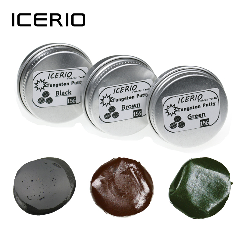 ICERIO 1 Piece 15g/0.53ounce Carp Fishing Accessories Lead Free Tungsten Putty Mud Soft Sinker Silt Terminal Tackle