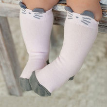 Baby Toddler Infant Cat Ear Cotton Warm Happy Socks Children Funny Cute Mid-Calf Happy Long Socks Kids Wool Cashmere Snow Socks(China)