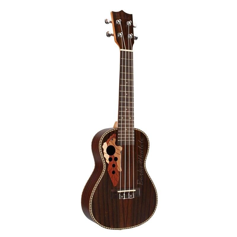 Burks ukulélé Soprano ukulélé 21 pouces bois de rose Uku ukulélé avec corde Aquila Mini Hawaii guitare Instruments de musique