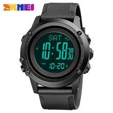 SKMEI 2021 nowe wojskowe sportowe zegarki męskie krokomierz termometr wysokościomierz cyfrowy zegar męski zegarek Relogio Masculino 1793