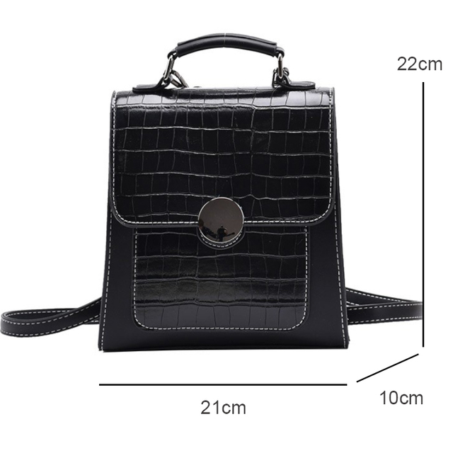 Stone Pattern Mini Backpack Women Fashion Leather Backpacks for Women Trend Designer Backpack Purse Travel Small Cute Backpack 6