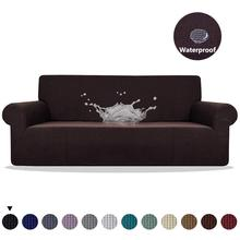 Sofa Cover Waterproof Solid Color High Stretch Slipcover All inclusive Elastic Couch Cover Sofa Covers For