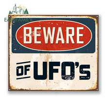 EARLFAMILY 13cm x for Beware of UFOs Funny Car Stickers Bumper Trunk Truck Graphics Vinyl JDM Waterproof Anime Fine Decal