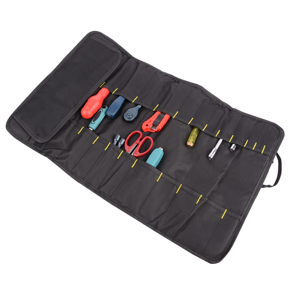 Foldable Tool Bag Roll Pouch Electrician Tools Storage Handbag Convenient Holder 4 Colors Option