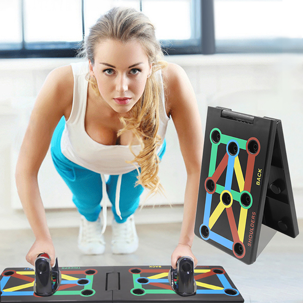 Person - StrengthBoard™ 9 in 1 Push Up Rack Board Complete Body Workout - Home Gym Exercise Program