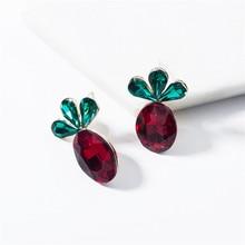 2019 new fashion jewelry creative acrylic radish earrings personality cute wild womens holiday party