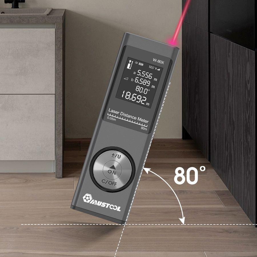 Medida de Volume Mini Digital Laser Rangefinder & Eletrônico Ângulo Sensor m – in ft Unidade Usb Pitágoras Modo Distância Área 80m