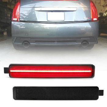 2Pcs Smoke Lens LED Rear Bumper Reflector Light for 2008-2013 Cadillac CTS CTS-V image
