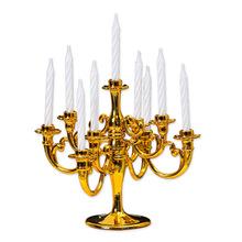 Srebrny złoty brązowy czarny 3-Arms metalowe świeca pieńkowa posiadaczy świecznik dekoracje ślubne stojak Home Decor świecznik tanie tanio Home Decoration Dopasowanie kij świeca Uchwyt filar Kolumna świeca piłka świeca Europa Z tworzywa sztucznego