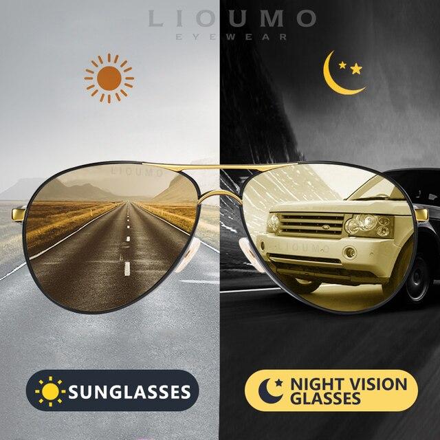 2020 חדש טייס משקפי שמש גברים מקוטב Photochromic משקפיים נשים יום ראיית לילה נהיגה משקפי UV400 LENTES דה סול hombre