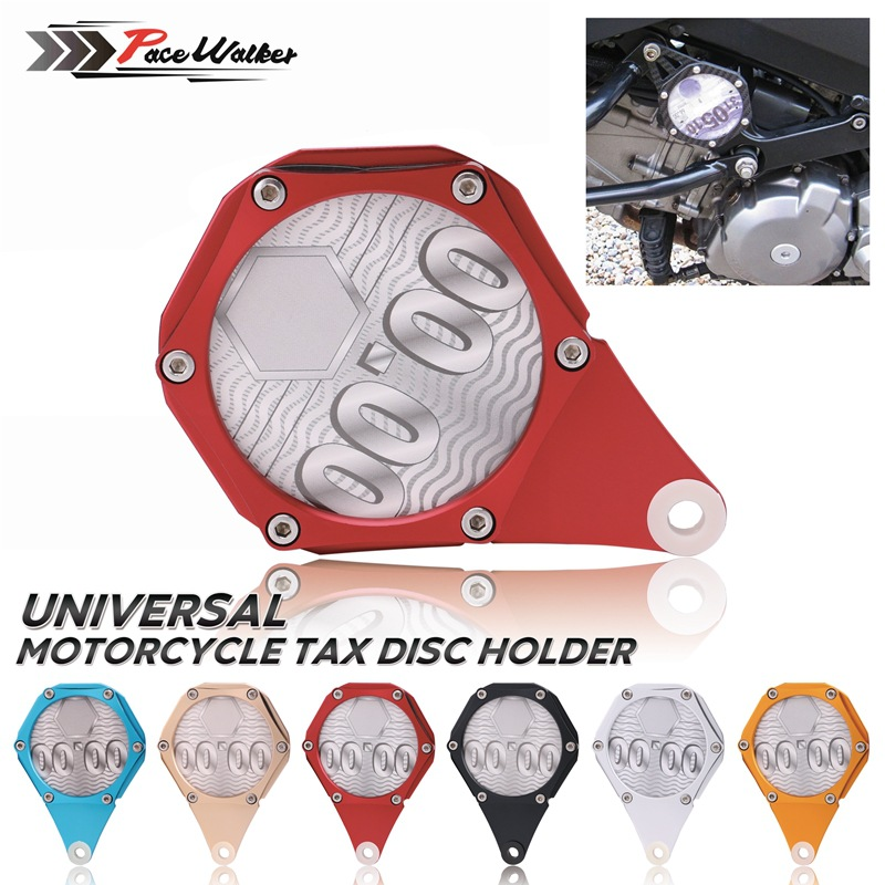 Cross Border Hot Selling ATV Four Wheel Motorcycle Universal Tax Tag High Quality CNC Lv Liu Jiao Tax Trays Rack
