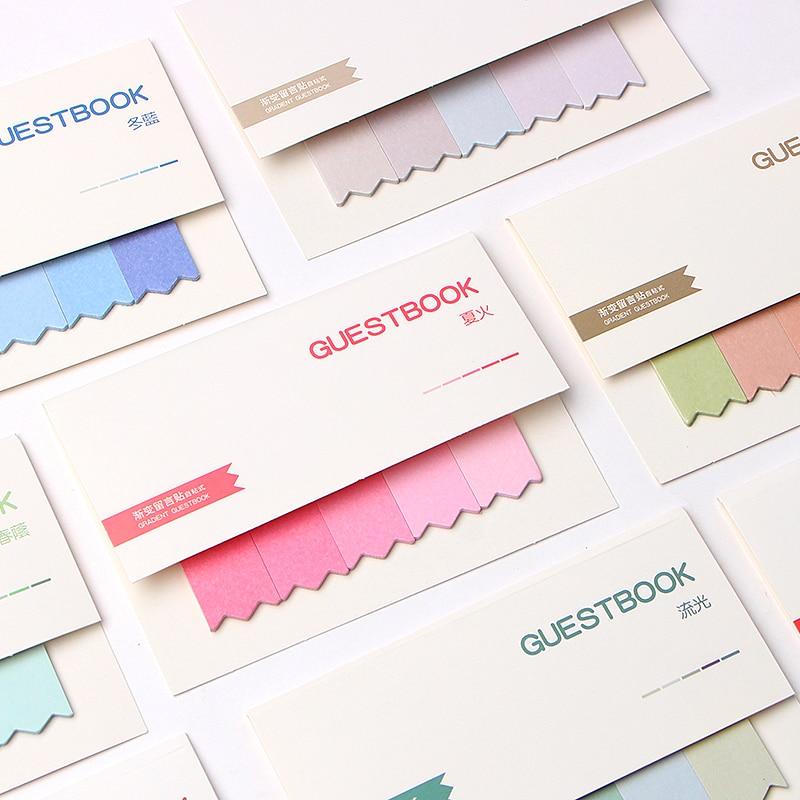 100 страниц симпатичный Kawaii блокнот для записей клейкие заметки канцелярские наклейки указательный заказ планировщик Закладка блокноты офи...