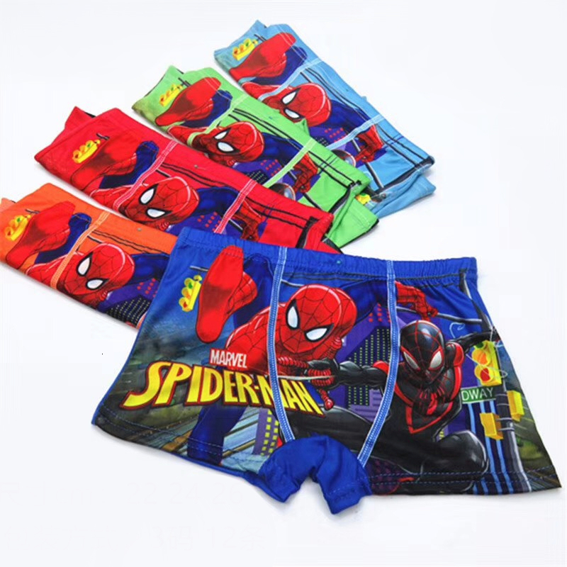 4pcs/lot Briefs For Boys Kids Girls Underwears Kids Clothes Panties Infant Boxer Spiderman Cotton Teenagers For 2-8Y Panty