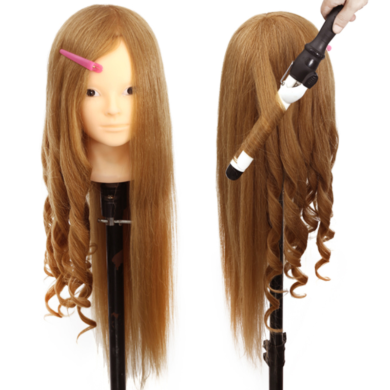 Pro Head Mannequin Dummy 85% Natural Human Hair Head Mannequin Head With Hair Teaching Head Dummy