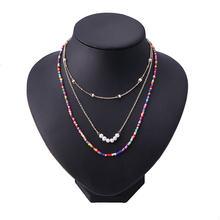 Модное богемное ожерелье для женщин тонкое подходит ко всему