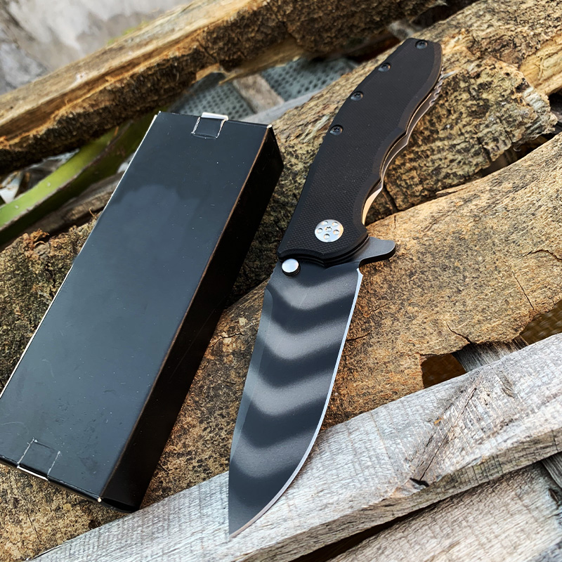 0562 0562TS Tactical Pocket Knife Zero Tolerance Tiger Stripe CPM-20CV bLADE Tactical Hunting Folding Knife