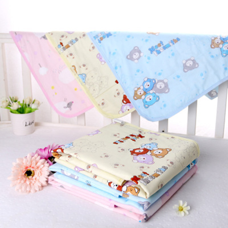 Baby Waterproof Sheet Urine Changing Pads Urine Pad Cartoon Reusable Infant Bedding Nappy Mattress Changing Mat
