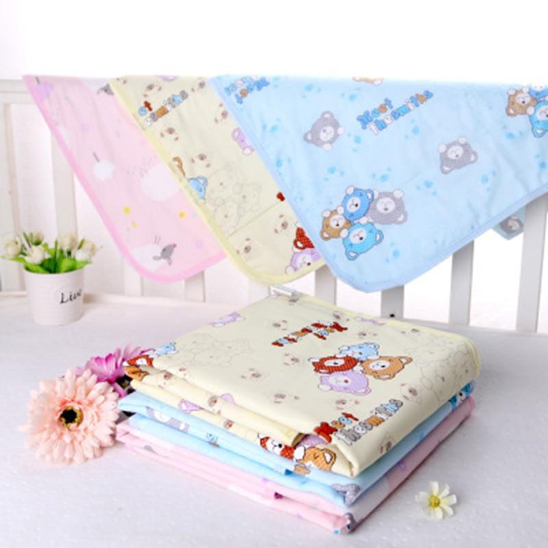 Baby Waterproof Sheet Urine Changing Pads Urine Pad Cartoon Reusable Infant Bedding Nappy Mattress Changing Mat