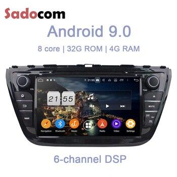 DSP 2 din Android 9.0 dla Suzuki SX4 S krzyż 2014 2015 2016 8 rdzeń 4GB RAM 32GB ROM samochodowy odtwarzacz DVD odtwarzacz GPS mapa RDS Radio wifi BT 4.0